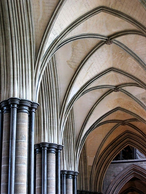 Salisbury Cathedral Quadripartite Rib Vault