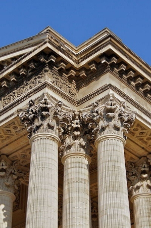 Corinthian columns of the Pantheon in Paris