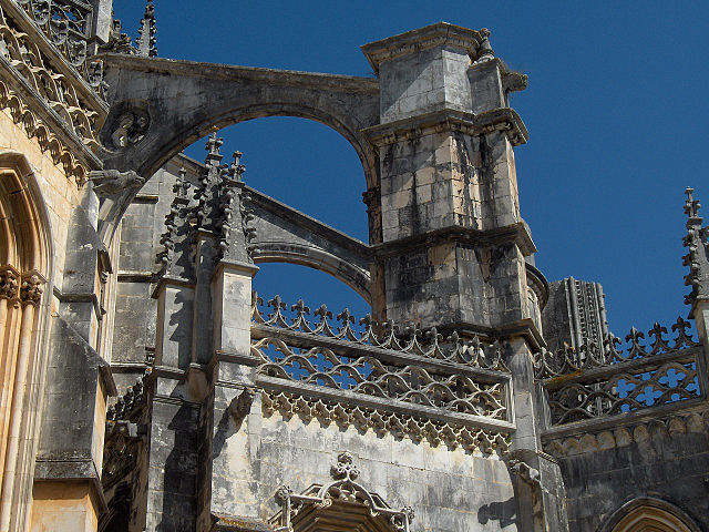 Close Up Of Flying Buttresses Pinnacles And Renaissance Balcony The Imperfect Unfinished